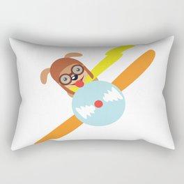 Puppy Pilot Into The Sky Rectangular Pillow