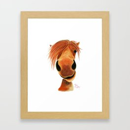 Happy Horse ' GINGER NUT ' by Shirley MacArthur Framed Art Print