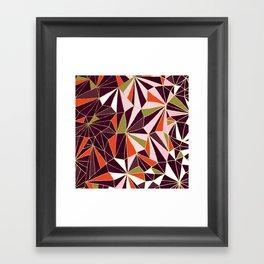 New Art Deco Geometric Pattern - Burgundi and Pink #deco #buyart Framed Art Print