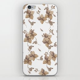 Hydrangea floral iPhone Skin