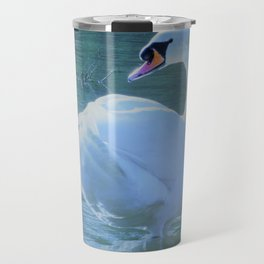 White swan Travel Mug