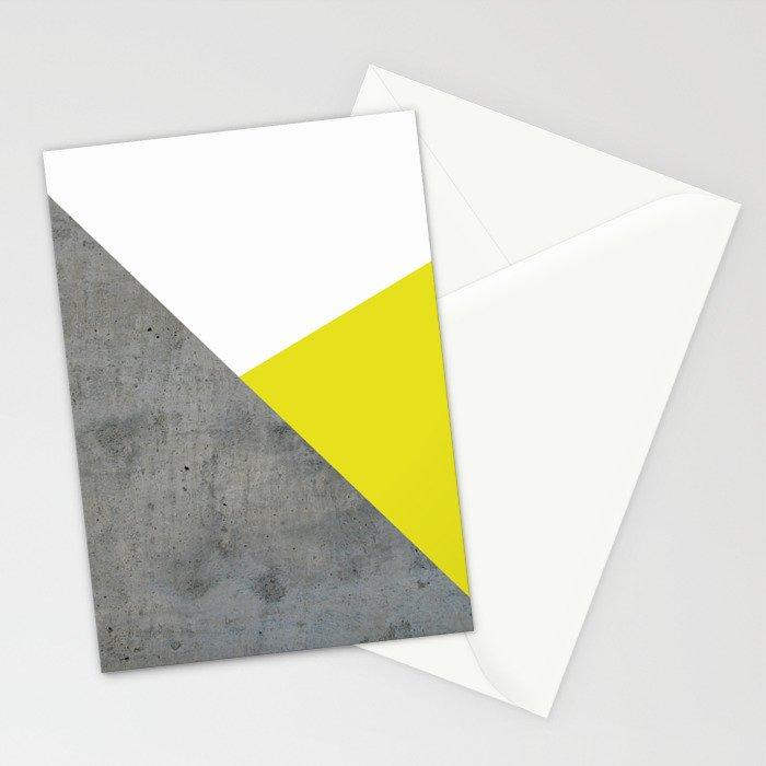 Concrete vs Corn Yellow Stationery Cards