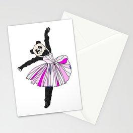 Panda Bear Ballerina Tutu Stationery Cards