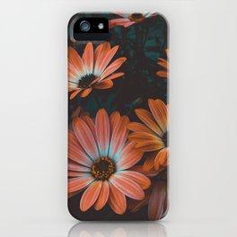 Midnight Bloom | Dark Orange Garden iPhone Case