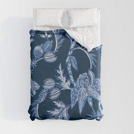 ROYAL BLUE BATIK FLORAL Duvet Cover