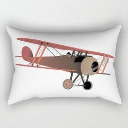 Red World War I Biplane Rectangular Pillow