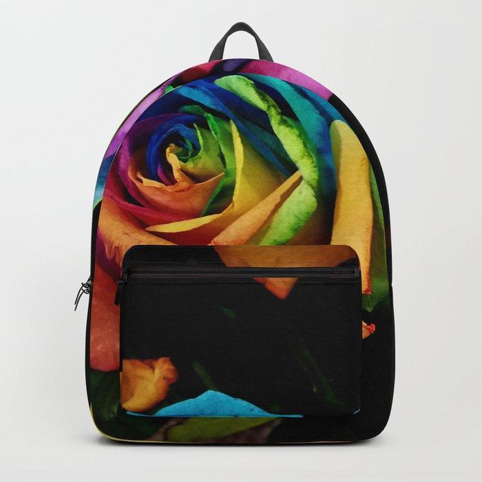 Rainbow roses Backpack
