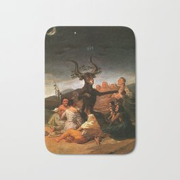The Sabbath of witches - Goya Bath Mat