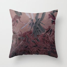 Reylo - Fight with the Praetorian Demons Throw Pillow
