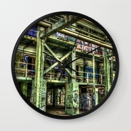 Abandoned Refinery Wall Clock