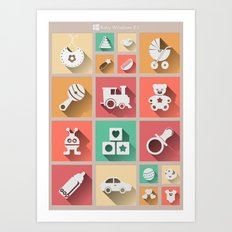 Baby Windows 8.1 Art Print