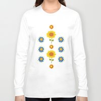 ukraine Long Sleeve T-shirts featuring Sunflowers of Ukraine by rusanovska