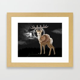 The night is calling Framed Art Print