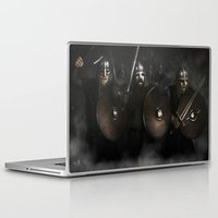 vikings Laptop & iPad Skins featuring Vikings by Silvana Massa Art