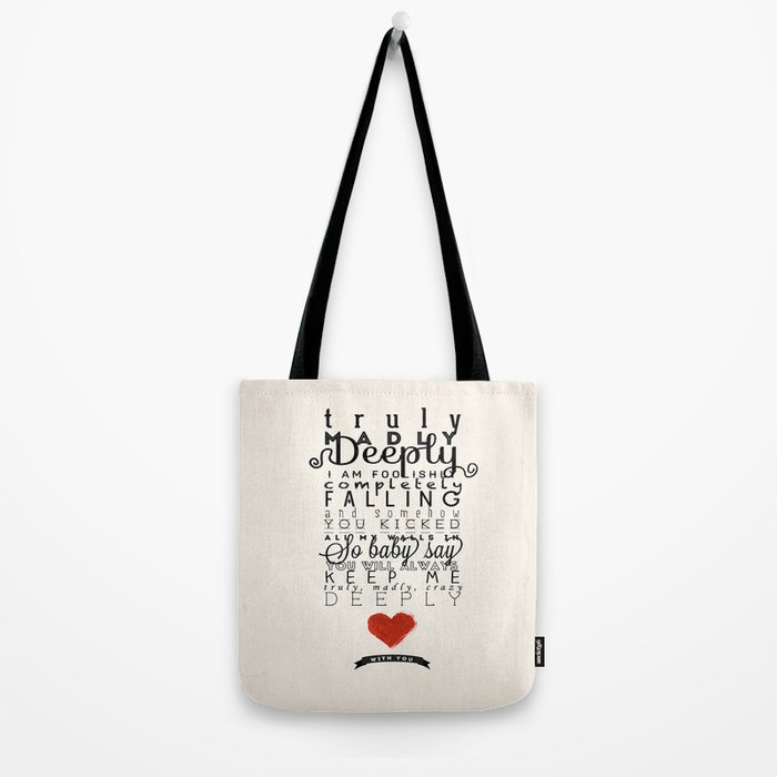 One Direction: Truly Madly Deeply Tote Bag