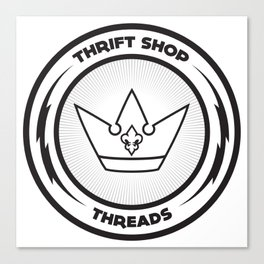 Thrift Shop Threads Button_Crown Canvas Print