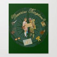 moonrise kingdom Canvas Prints featuring Moonrise Kingdom by KelseyMicaela