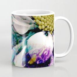 Fluid Nature - Marbled Daisy - Acrylic Pour & Photography Coffee Mug