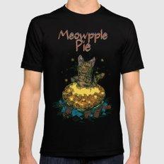 Meowpple Pie Black Mens Fitted Tee MEDIUM