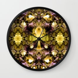 Crystal Fragmentation Wall Clock