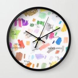 Enneagram Affirmations Wall Clock