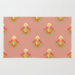 Waffles and Bacon (Pretty in Pink) Rug