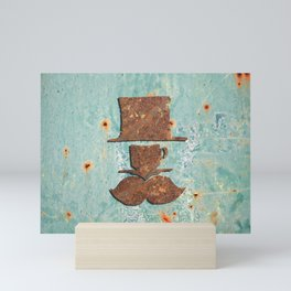 Rusty coffee shop sign Mini Art Print