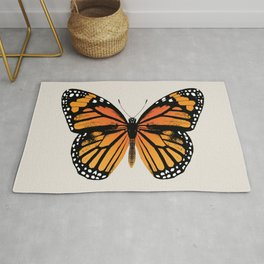 Monarch Butterfly | Vintage Butterfly | Rug