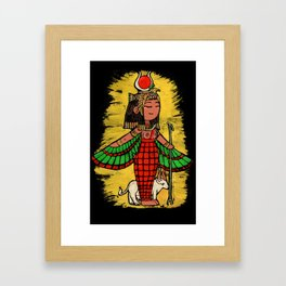Goddess Hathor Framed Art Print