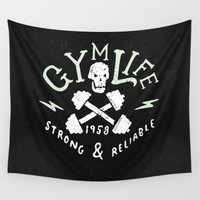 gym Wall Tapestries featuring Gym Life  by Textures