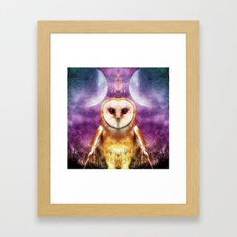 She shines all over the world Framed Art Print