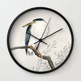 Ohara Koson - Quack on erratic branch Wall Clock
