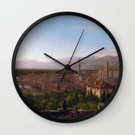Thomas Cole View of Florence Wall Clock