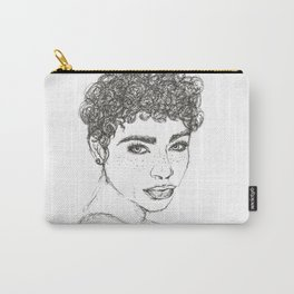 Sketch of a girl Carry-All Pouch