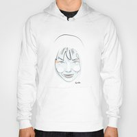 bjork Hoodies featuring Portrait: Bjork by quibe