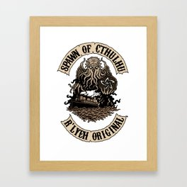 Spawn of Cthulhu Sepia Tone Framed Art Print