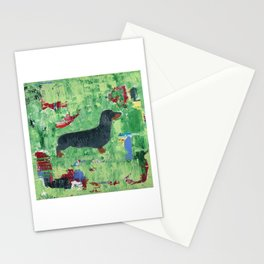 Dachshund Weiner Dog Painting Stationery Cards