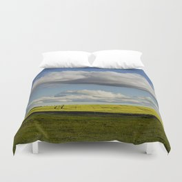 Spring Landscape with wonderful clouds Duvet Cover