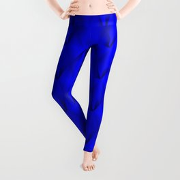 Trickling iridescent blue rhombs from black triangles with volume. Leggings