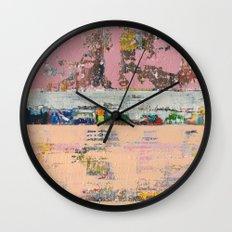 Dogbane Pink Abstract Painting Print Wall Clock
