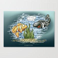 When Clownfishes meet Canvas Print