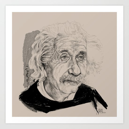 Albert Einstein (scientist) Art Print