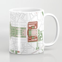 Paris city map minimal Coffee Mug