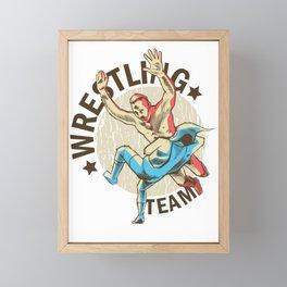 Wrestling Team Battle Framed Mini Art Print