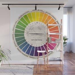 Vintage Color Wheel - Art Teaching Tool - Rainbow Mood Chart Pride Wall Mural
