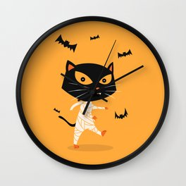 Mummy Cat Wall Clock