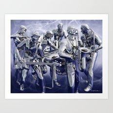 Chrome Plated Music Art Print