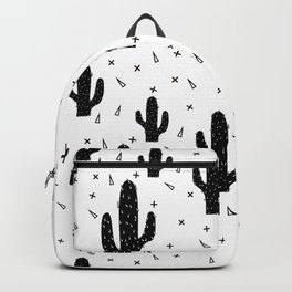 Cactuses abstract modern print simple Backpack