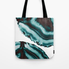 Turquoise Brown Agate #1 #gem #decor #art #society6 Tote Bag