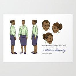 Darshanna Penna Character Design II Art Print